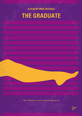 The Classic Digital Art - No135 My The Graduate Minimal Movie Poster by Chungkong Art