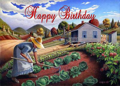 Dakota Painting - no13A Happy Birthday by Walt Curlee