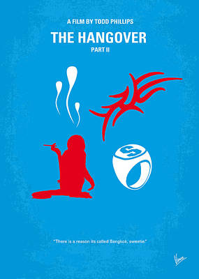 Bangkok Digital Art - No145 My The Hangover Part 2 Minimal Movie Poster by Chungkong Art