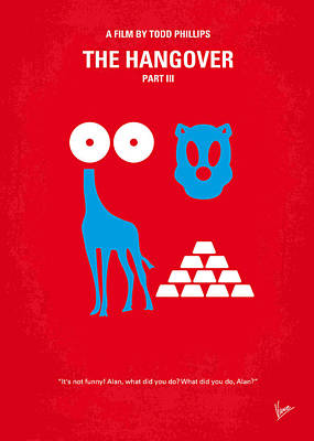 Drunk Digital Art - No145 My The Hangover Part 3 Minimal Movie Poster by Chungkong Art