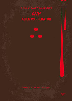 Pyramid Digital Art - No148 My Avp Minimal Movie Poster by Chungkong Art