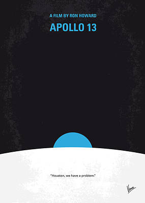 Moon Digital Art - No151 My Apollo 13 Minimal Movie Poster by Chungkong Art