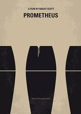 Scifi Digital Art - No157 My Prometheus Minimal Movie Poster by Chungkong Art