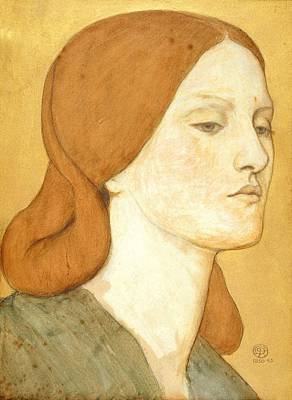 No.1575 Head Of A Girl In A Green Dress Art Print