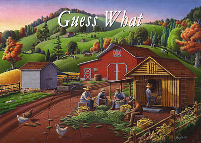 Kentucky Painting - no16 Guess What by Walt Curlee