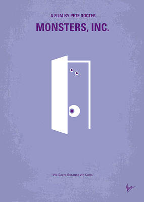 Room Wall Art - Digital Art - No161 My Monster Inc Minimal Movie Poster by Chungkong Art