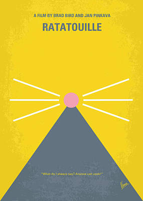 No163 My Ratatouille Minimal Movie Poster  Art Print