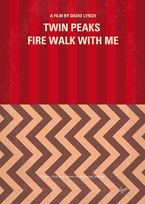 No169 My Fire Walk With Me Minimal Movie Poster Art Print by Chungkong Art