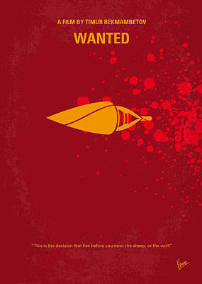 Angelina Digital Art - No176 My Wanted Minimal Movie Poster by Chungkong Art