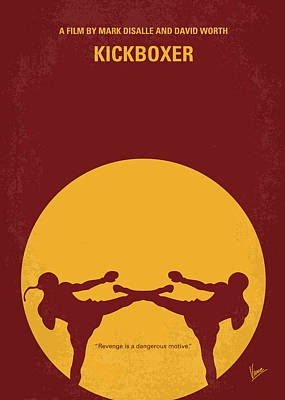 No178 My Kickboxer Minimal Movie Poster Print by Chungkong Art