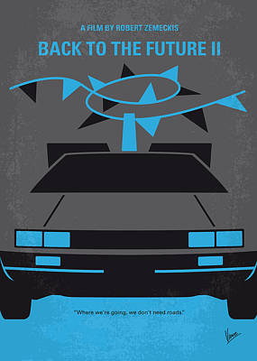 80s Digital Art - No183 My Back To The Future Minimal Movie Poster-part II by Chungkong Art