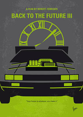 80s Digital Art - No183 My Back To The Future Minimal Movie Poster-part IIi by Chungkong Art