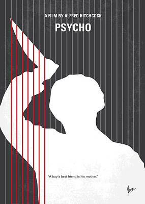 No185 My Psycho Minimal Movie Poster Art Print by Chungkong Art