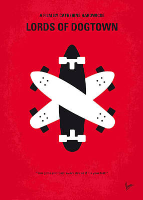 No188 My The Lords Of Dogtown Minimal Movie Poster Print by Chungkong Art