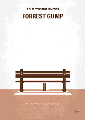 No193 My Forrest Gump Minimal Movie Poster Print by Chungkong Art