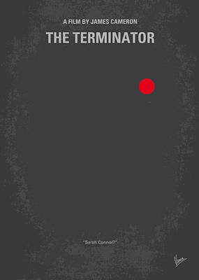 Robot Digital Art - No199 My Terminator Minimal Movie Poster by Chungkong Art
