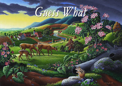 Mountain Laurel Painting - no20 Guess What by Walt Curlee