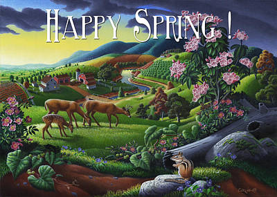 Muscadine Painting - no20 Happy Spring by Walt Curlee