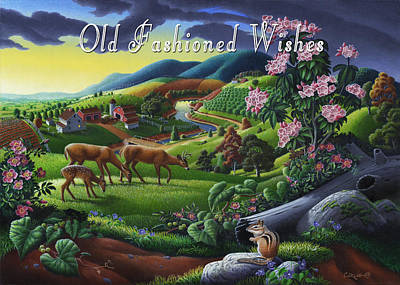 Mountain Laurel Painting - no20 Old Fashioned Wishes by Walt Curlee