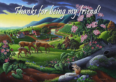 no20 Thank you for being my friend Original by Walt Curlee