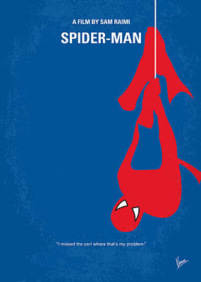 Stan Digital Art - No201 My Spiderman Minimal Movie Poster by Chungkong Art