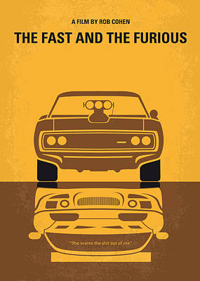Graphic Design Digital Art - No207 My The Fast And The Furious Minimal Movie Poster by Chungkong Art