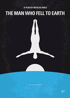 Syfy Digital Art - No208 My The Man Who Fell To Earth Minimal Movie Poster by Chungkong Art