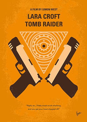 No209 Lara Croft Tomb Raider Minimal Movie Poster Print by Chungkong Art