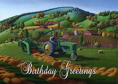 no21 Birthday Greetings 5x7 greeting card  Original by Walt Curlee