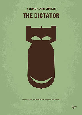 Weapon Digital Art - No212 My The Dictator Minimal Movie Poster by Chungkong Art