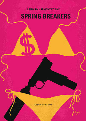 No218 My Spring Breakers Minimal Movie Poster Art Print by Chungkong Art