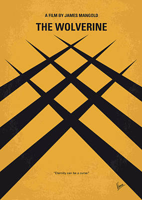 Samurai Digital Art - No222 My Wolverine Minimal Movie Poster by Chungkong Art