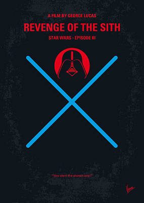 Dark Digital Art - No225 My Star Wars Episode IIi Revenge Of The Sith Minimal Movie Poster by Chungkong Art