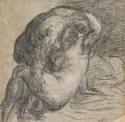Nude Drawing - Couple In An Embrace by Titian