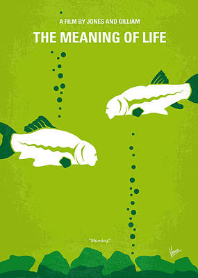 Python Digital Art - No226 My The Meaning Of Life Minimal Movie Poster by Chungkong Art