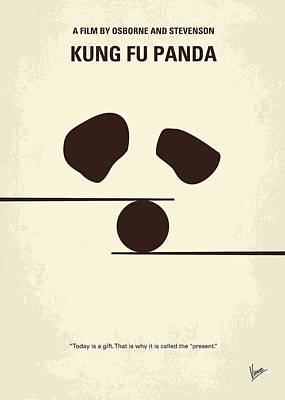 Five Digital Art - No227 My Kung Fu Panda Minimal Movie Poster by Chungkong Art