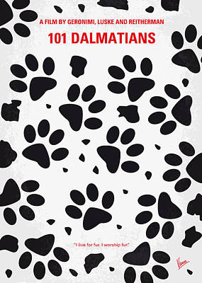 Disney Digital Art - No229 My 101 Dalmatians Minimal Movie Poster by Chungkong Art