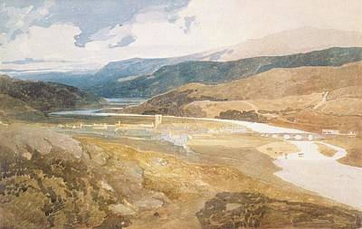 Valley Drawing - No.2303 Dolgelly, North Wales, 1804-05 by John Sell Cotman