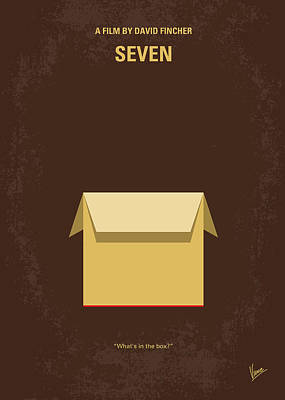 Killer Digital Art - No233 My Seven Minimal Movie Poster by Chungkong Art