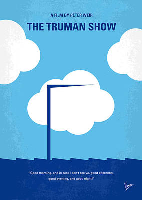Graphic Design Digital Art - No234 My Truman Show Minimal Movie Poster by Chungkong Art