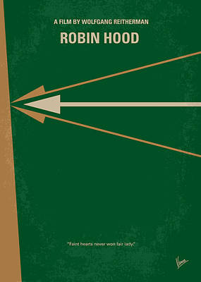 Arrow Digital Art - No237 My Robin Hood Minimal Movie Poster by Chungkong Art