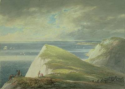 Sheep Drawing - No.2372 Shakespeares Cliff, Dover by William Payne