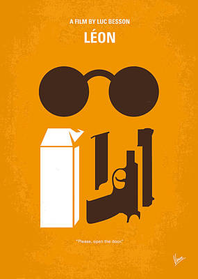 Professional Digital Art - No239 My Leon Minimal Movie Poster by Chungkong Art