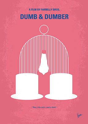 Icons Digital Art - No241 My Dumb And Dumber Minimal Movie Poster by Chungkong Art