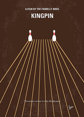 No244 My Kingpin Minimal Movie Poster Art Print by Chungkong Art