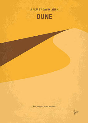 Sci Fi Art Digital Art - No251 My Dune Minimal Movie Poster by Chungkong Art