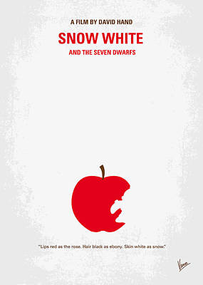 Charming Digital Art - No252 My Snow White Minimal Movie Poster by Chungkong Art