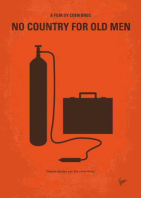 Killer Digital Art - No253 My No Country For Old Men Minimal Movie Poster by Chungkong Art