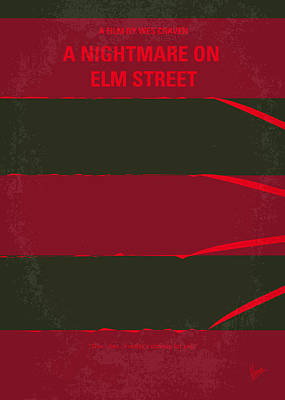 No265 My Nightmare On Elmstreet Minimal Movie Poster Art Print