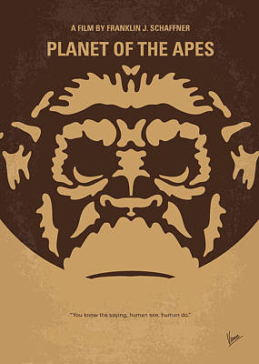 Tim Digital Art - No270 My Planet Of The Apes Minimal Movie Poster by Chungkong Art